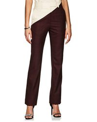 CALVIN KLEIN 205W39NYC - Plaid Wool Straight Trousers - Lyst