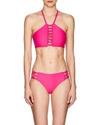 Mikoh Swimwear - West Oz Crochet-inset Halter Bikini Top - Lyst