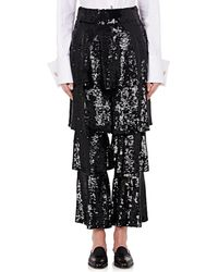 OSMAN - Felix Sequined Tiered Trousers - Lyst