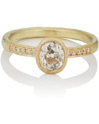Malcolm Betts - Oval White Diamond Ring - Lyst
