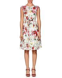 Dolce & Gabbana - Floral Cotton Poplin A - Lyst