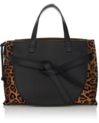 Loewe - Gate Leather & Calf Hair Satchel - Lyst