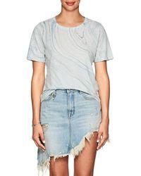 Raquel Allegra - Marble-print Linen-cotton T-shirt - Lyst