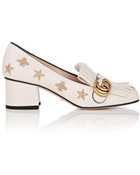 Gucci - Marmont Leather Pumps - Lyst