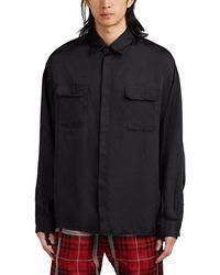 424 - Logo Twill Oversized Shirt - Lyst
