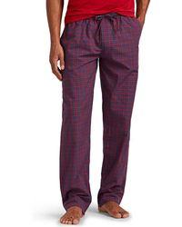 Zimmerli - Plaid Cotton Pajama Pants - Lyst