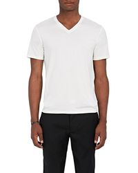 Theory - Claey Plaito Silk-cotton T-shirt - Lyst