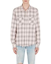 Amiri - Faded Plaid Cotton - Lyst
