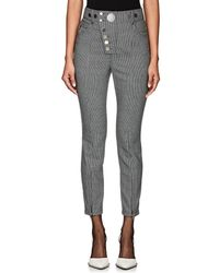Alexander Wang - Button-detail Houndstooth Trousers - Lyst