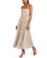 J. Mendel Silk-blend Plissé Cocktail Dress - Natural
