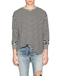 NSF - Andy Striped Cotton T-shirt - Lyst