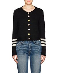 The Elder Statesman | Cashmere Crop Cardigan | Lyst