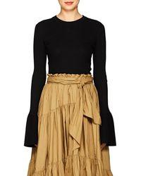 Proenza Schouler - Rib-knit Silk-blend Sweater - Lyst