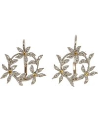 Cathy Waterman - Circle Of Flowers Drop Earrings - Lyst