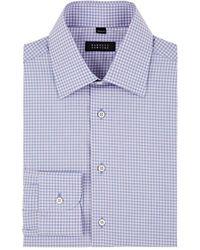 Barneys New York - Checked Cotton Poplin Dress Shirt Size 17 Xl - Lyst