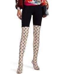 Marine Serre - futurewear Footed Leggings - Lyst
