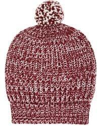 Barneys New York - Chunky Rib-knit Wool-blend Beanie - Lyst