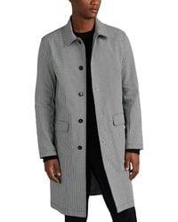 Eidos Houndstooth Cotton Car Coat