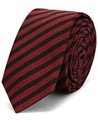 Saint Laurent - Striped Silk Faille Necktie - Lyst