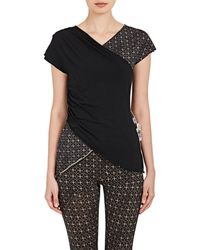Weargrace - Lotus-print Cotton-blend Crossover T - Lyst