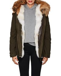 Mr & Mrs Italy - Fur-trimmed Canvas Coat - Lyst
