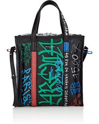 Balenciaga - Bazar Arena Leather Small Shopper Tote Bag - Lyst