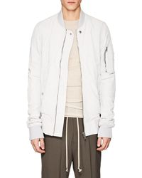 Rick Owens - Blistered Leather Bomber Jacket - Lyst