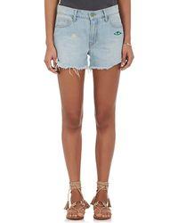 Sandrine Rose - Twana Embroidered Denim Cutoff Shorts - Lyst