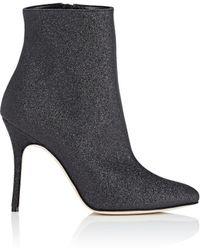 Manolo Blahnik - Insopolo Black Glittered Ankle Boots - Lyst