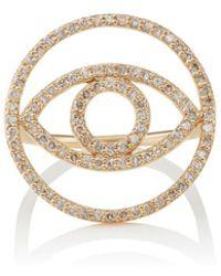 Ileana Makri - Evil Eye White Diamond Ring - Lyst