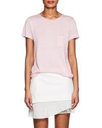 Barneys New York - Silk-cashmere Short-sleeve Jumper - Lyst
