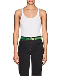RE/DONE - Ribbed Cotton Bodysuit - Lyst