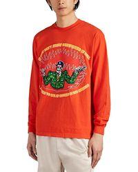 Warren Lotas - Red Overpricing Long Sleeve T-shirt - Lyst
