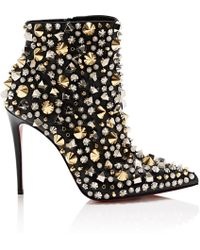 f2b4013180b4 Christian Louboutin So Kate Jacquard Ankle Boots in Black - Lyst