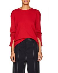 Cedric Charlier - Rounded-hem Wool-cashmere Sweater - Lyst