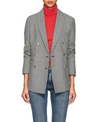 Barneys New York - Houndstooth Wool-mohair Double - Lyst