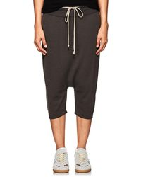 Rick Owens - Wool Drop-rise Crop Pants - Lyst