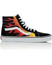 Vans - Sk8-hi Reissue Canvas   Suede Sneakers - Lyst be71e3e29