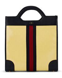 cf1e657fb Gucci Bee Print Soft Gg Supreme Tote in Brown for Men - Lyst