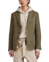 Barena - Houndstooth Linen-cotton Three-button Sportcoat - Lyst