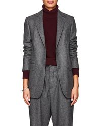 Officine Generale - Pinstriped Wool Flannel Blazer - Lyst
