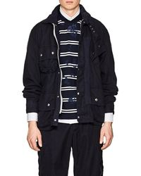 Sacai - Belted Cotton-blend Canvas Motorcycle Jacket - Lyst