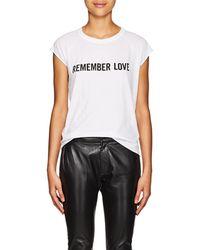 Nili Lotan - remember Love Cotton T-shirt - Lyst