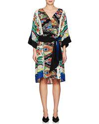 Warm - Sketch Cotton Crêpe De Chine Dress - Lyst