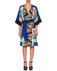 Warm - Sketch Cotton Crêpe De Chine Dress Size 2 - Lyst