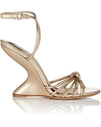 Ferragamo - Sculpted-heel Leather Ankle - Lyst