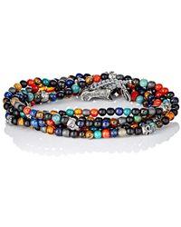 M. Cohen - Bead & Skull Charm Wrap Bracelet - Lyst