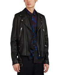 Ksubi - Loathing Leather Biker Jacket - Lyst