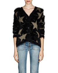 Saint Laurent - Star-pattern Cardigan - Lyst
