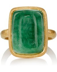 Malcolm Betts - Jade Cabochon & Yellow Gold Ring - Lyst